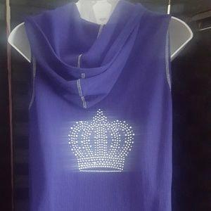 Purple sleeveless hoodie